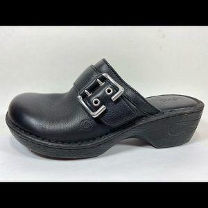 Born Leather Clogs Women's 8M